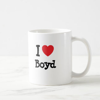 I love Boyd heart custom personalized Coffee Mug
