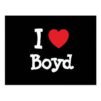 I love Boyd heart custom personalized Postcard
