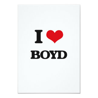 "I Love Boyd 3.5"" X 5"" Invitation Card"