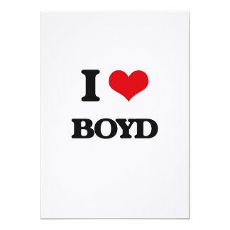 "I Love Boyd 5"" X 7"" Invitation Card"