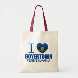 I Love Boyertown, PA Tote Bag