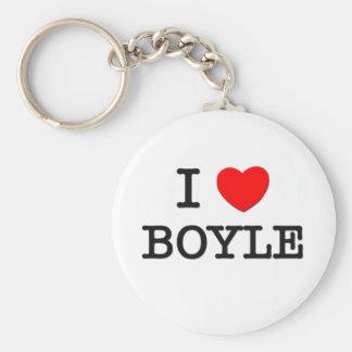 I Love Boyle Basic Round Button Keychain