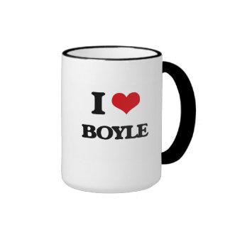 I Love Boyle Ringer Coffee Mug