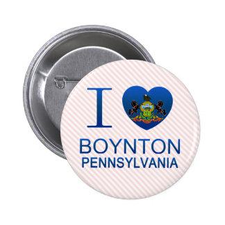 I Love Boynton, PA Pinback Buttons