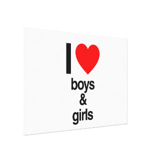 i love boys and girls canvas print