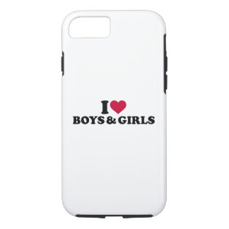 I love boys and girls iPhone 7 case