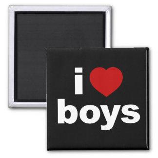 I Love Boys Black Magnet