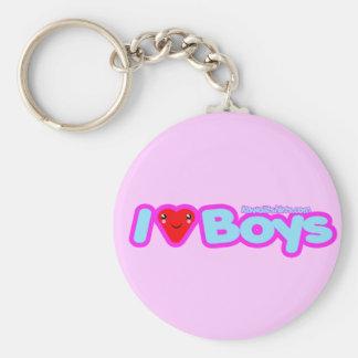I love Boys cute Kawaii heart t-shirts & more Keychain
