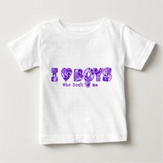 """I Love Boys"" Infant Tee in Wht Tee /Purple"