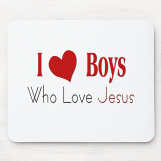 I Love Boys Mouse Pad