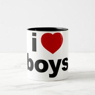 I Love Boys Mugs and Steins