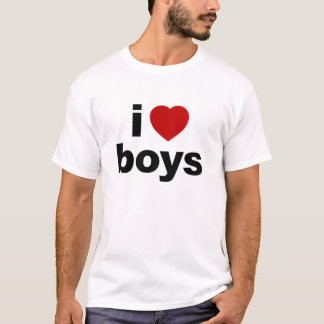 I Love Boys Performance Micro-Fiber singlet T-Shirt