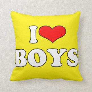 I Love Boys Pillow