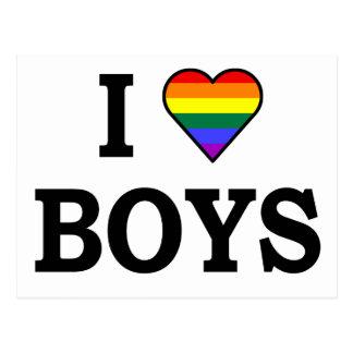I Love boys Postcards