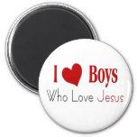 I Love Boys Refrigerator Magnets