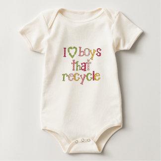 I Love Boys That Recycle Baby Bodysuit