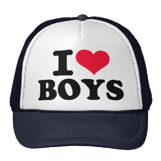 I love boys trucker hat