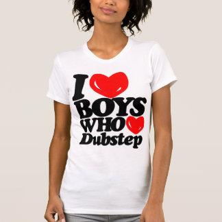 I Love Boys Who Love Dubstep (black/red) T-Shirt