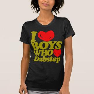 I Love Boys Who Love Dubstep (dark yellow/red) T-Shirt