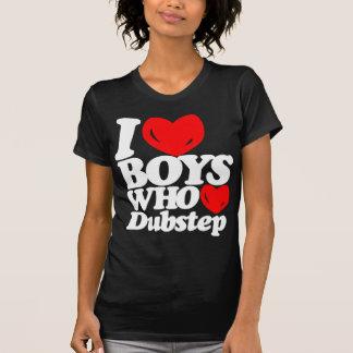 I Love Boys Who Love Dubstep (white/red) T-Shirt