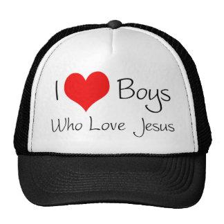 I love boys who love jesus trucker hat