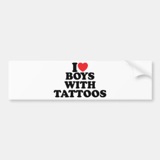 I Love Boys With Tattoos Bumper Stickers