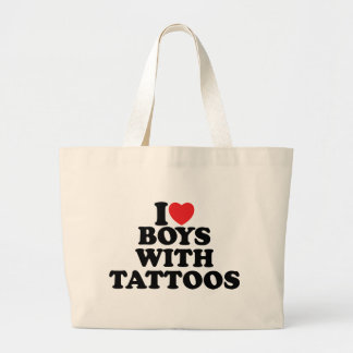 I Love Boys With Tattoos Canvas Bag
