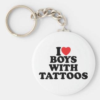 I Love Boys With Tattoos Key Chains