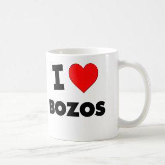I Love Bozos Classic White Coffee Mug