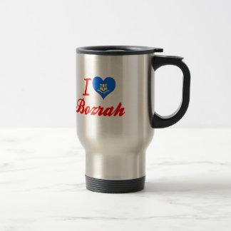 I Love Bozrah, Connecticut Coffee Mugs