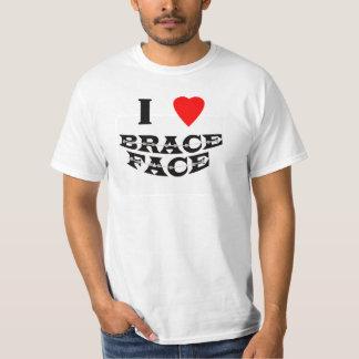 I love Brace Face - Basic White t-shirt