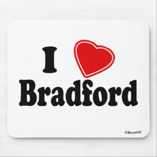 I Love Bradford Mousepad