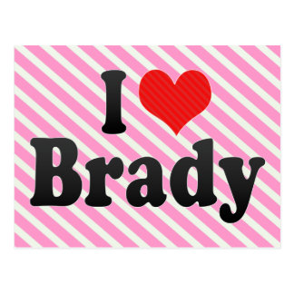 I Love Brady Postcard