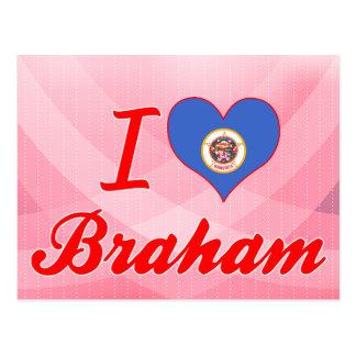 I Love Braham, Minnesota Postcard