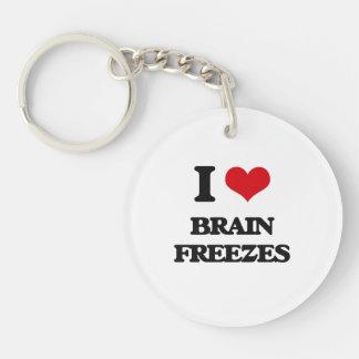 I love Brain Freezes Single-Sided Round Acrylic Keychain