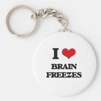I love Brain Freezes Basic Round Button Keychain