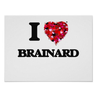 I love Brainard New Jersey Poster