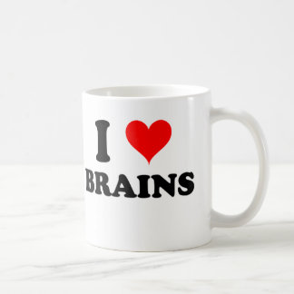 I Love Brains Coffee Mug