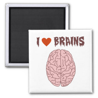 I Love Brains Fridge Magnets