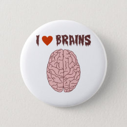 I Love Brains Pinback Button