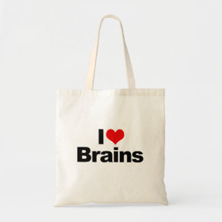 I LOVE BRAINS -.png Budget Tote Bag