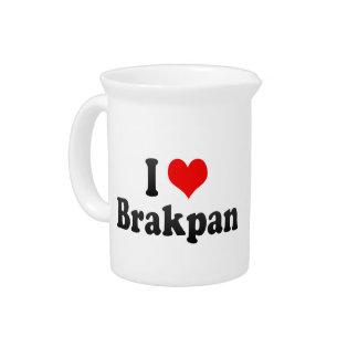 I Love Brakpan, South Africa Drink Pitcher