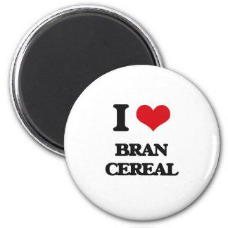 I Love Bran Cereal Refrigerator Magnet