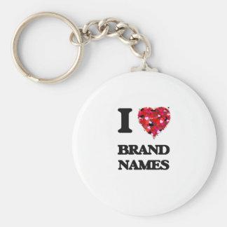 I Love Brand Names Keychain