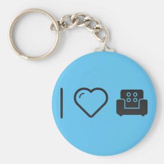 I Love Brandnew Couches Basic Round Button Keychain