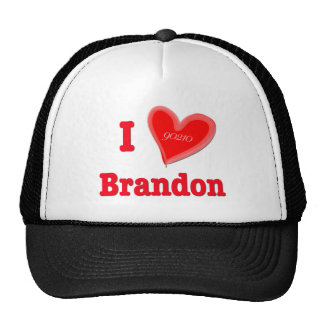 I Love Brandon Trucker Hat