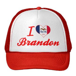 I Love Brandon Iowa Trucker Hat
