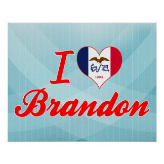 I Love Brandon, Iowa Print