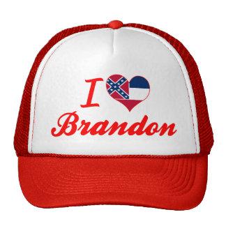 I Love Brandon Mississippi Trucker Hats
