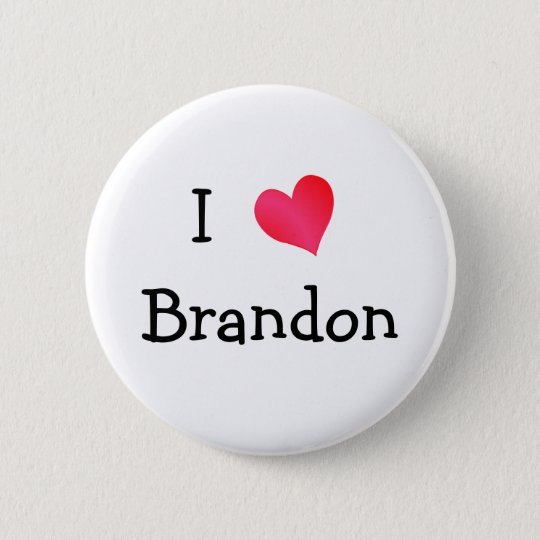 I Love Brandon Pinback Button
